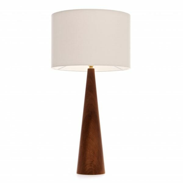 Large Elm table lamp with Cream shade