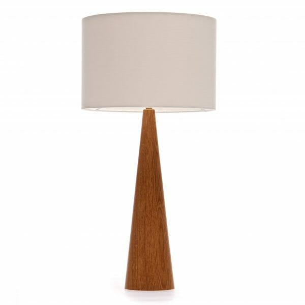 Oak Table lamp, wooden table lamp