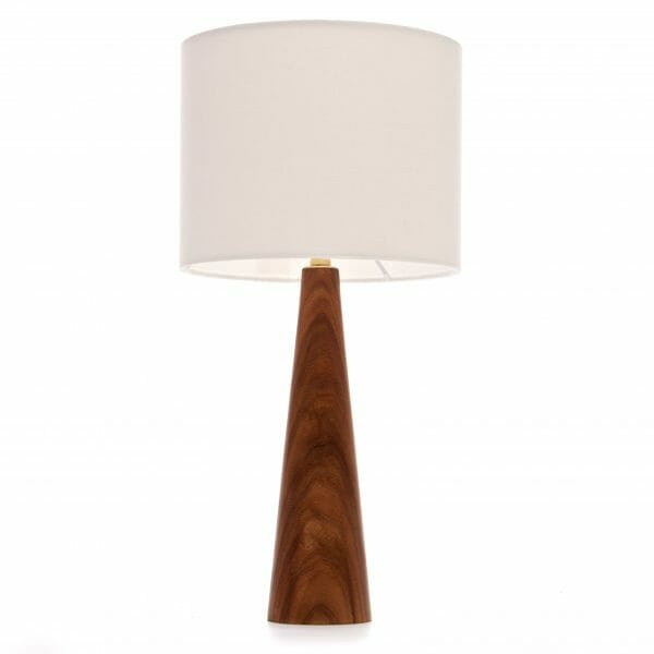 Elm bedside lamp with Cream shade, bedside table lamp
