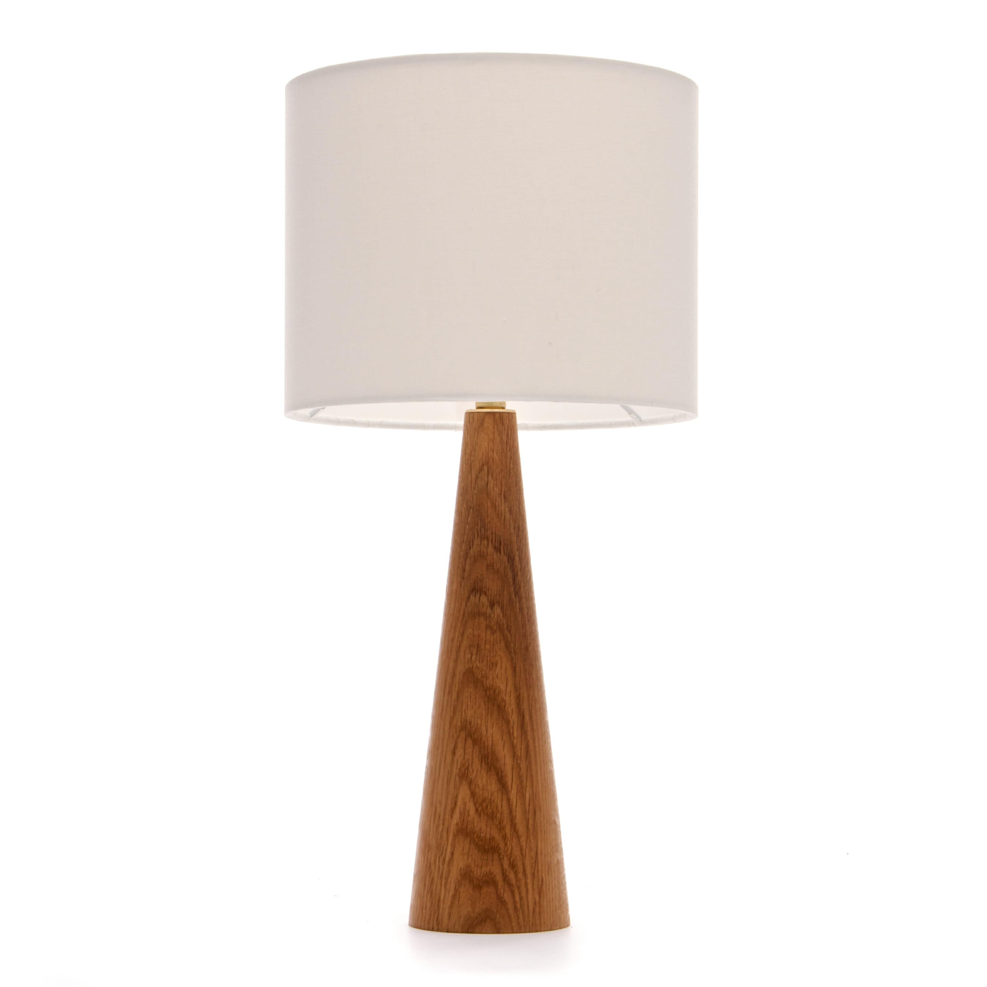 Oak Cone Bedside Table Lamp Wooden Bedside Table Lamp