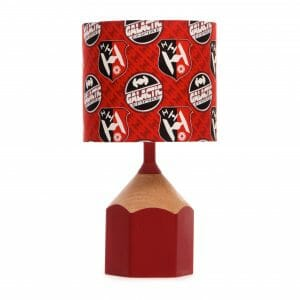 Red pencil lamp with Star Wars Galatic Empire shade