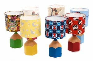 Collection of Childrens pencil lamps 3