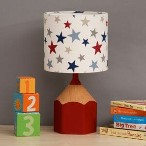 Red Star pencil lamp childs bedroom scene