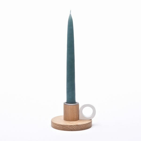 Small Oak candle holder | wooden candlestick